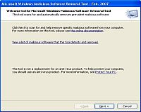 microsoft malicious software removal tool Microsoft Malicious Software Removal Tool