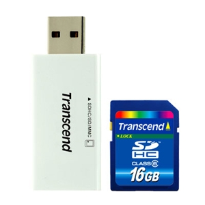 transcend Transcend Launches 16 GB microSDHC and P3 USB Card Reader Combo in India