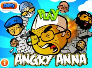 Image1 300x221 Angry Anna   The Anna Fever Results In A New Angry Birds styled Online Game!