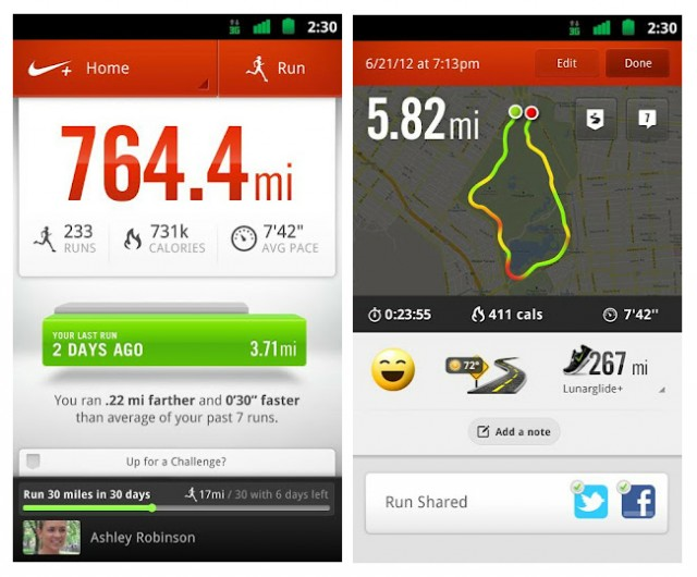 gga e1340801868150 Nike+ Running App Now on Google Play Store for Android Users!