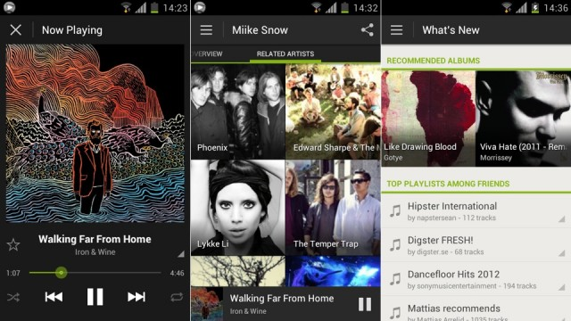 image 2b Spotify App Redesigned for Android 4.0 (Ice Cream Sandwich) OS!