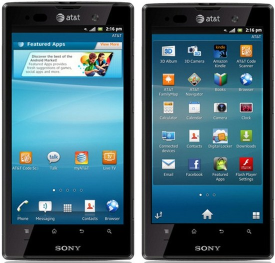 xperia Sony to Launch Xperia ion with AT&T by June 24!
