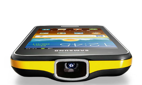 image 1 Samsung Launches Galaxy Beam Projector Phone in India!